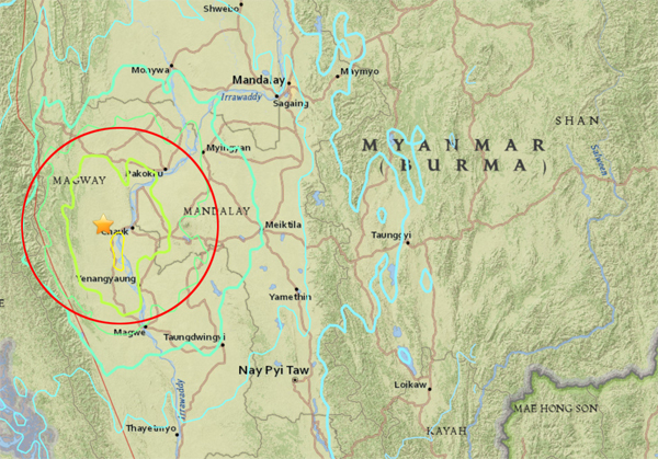 ตะกี้นี่นึง ..ระทึก!! ดินไหว 6.8 ที่พม่า หลายพื้นที่ในไทยรับรู้ถึงแรงสั่นไหว